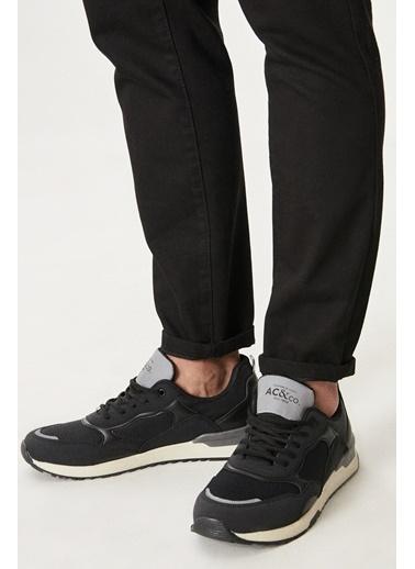 AC&Co / Altınyıldız Classics Casual Spor Sneaker Ayakkabı 4A2221100020 Siyah